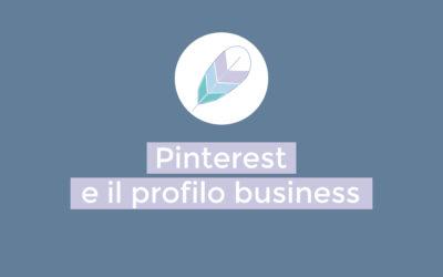 Pinterest: il profilo business