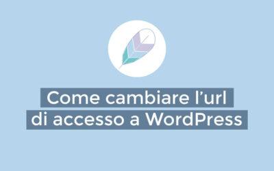 Come cambiare l'url di accesso a WordPress