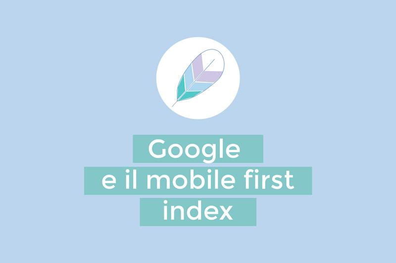 Google e il mobile first index